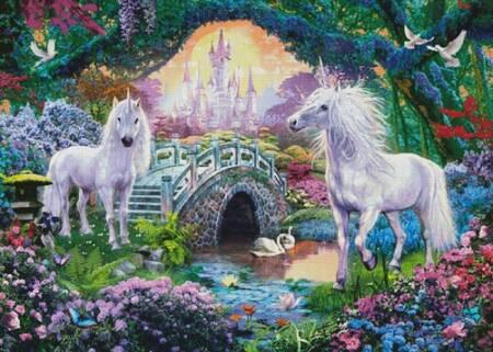 cross stitch pattern Magical Unicorn Kingdom (Large)