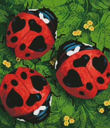cross stitch pattern Mini Lady Love Bugs