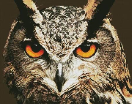 cross stitch pattern Mini Owl Close Up