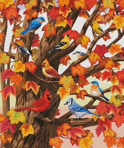 cross stitch pattern Maple Tree Marvel