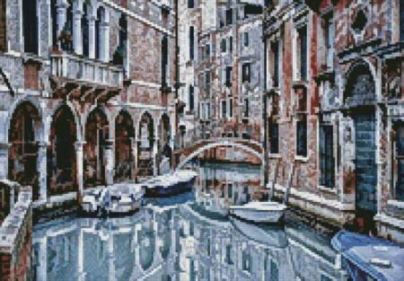 cross stitch pattern Mini Venice Canal