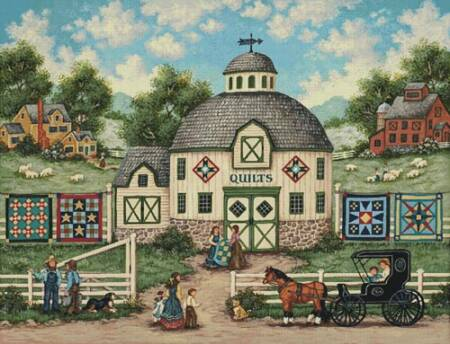 cross stitch pattern The Quilt Barn (Large)