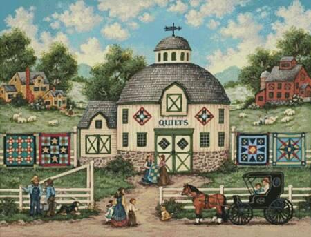 cross stitch pattern The Quilt Barn