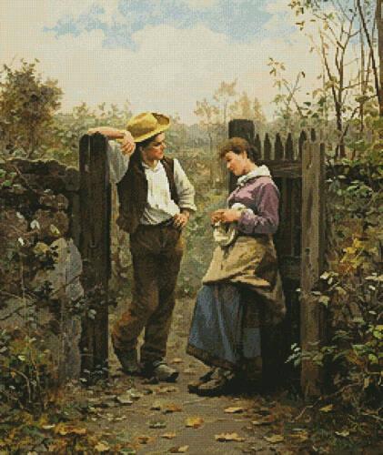 cross stitch pattern Rural Courtship