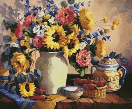 cross stitch pattern Sunshine in a Vase