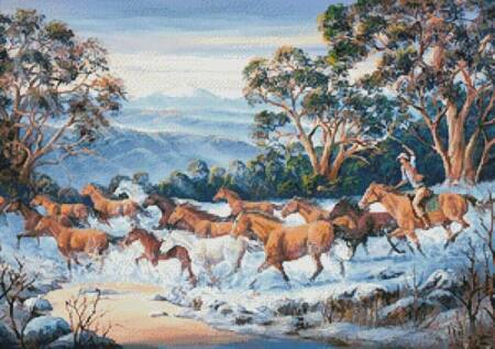 cross stitch pattern The Man from Snowy River