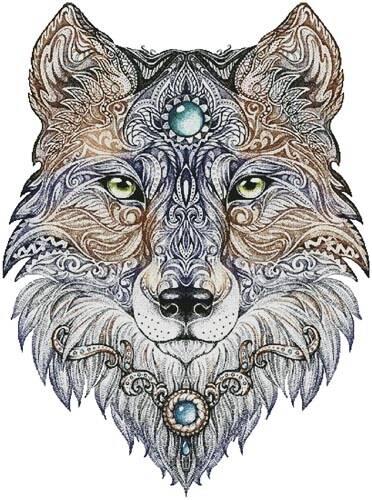 cross stitch pattern Tattoo Wolf (Large)