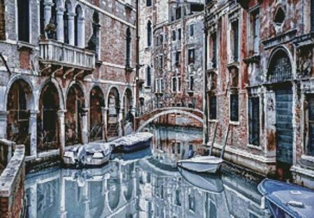 cross stitch pattern Venice Canal