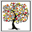 cross stitch pattern Decorative Autumn Tree
