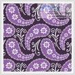 cross stitch pattern Purple Paisley Cushion