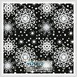 cross stitch pattern Black Snowflakes Cushion