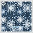 cross stitch pattern Blue Snowflakes Cushion