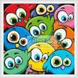 cross stitch pattern Cartoon Birds Cushion