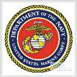 cross stitch pattern US Marines Emblem