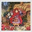 cross stitch pattern Red Riding Hood Painting