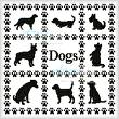 cross stitch pattern Dog Sampler