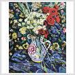 cross stitch pattern Poppy Flowers
