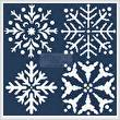 cross stitch pattern Snowflake Set