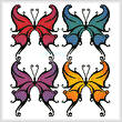 cross stitch pattern Butterfly Swirls