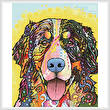 cross stitch pattern Bernese Mountain Dog