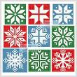 cross stitch pattern Christmas Snowflake Set 3