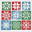 cross stitch pattern Christmas Snowflake Set 3