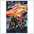 cross stitch pattern Iwo Jima Painting