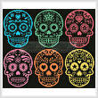 cross stitch pattern Mexican Sugar Skulls