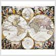 cross stitch pattern Old World Map (Large)