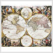 cross stitch pattern Old World Map
