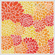cross stitch pattern Orange Flowers Cushion