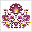cross stitch pattern Polish Folk Art (Plum)