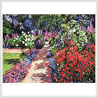 cross stitch pattern Romantic Garden Walk