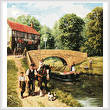 cross stitch pattern Summer on the Canal