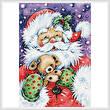 cross stitch pattern Santa with Puppy