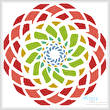 cross stitch pattern Abstract Spiral
