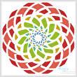 cross stitch pattern Abstract Spiral