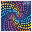 cross stitch pattern Abstract Rainbow Heart Design