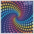 cross stitch pattern Abstract Rainbow Heart Design