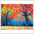 cross stitch pattern Autumn Landscape Abstract (Crop)