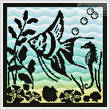 cross stitch pattern Aquarium Silhouette 3