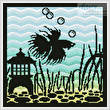 cross stitch pattern Aquarium Silhouette 4