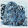 cross stitch pattern Blue Leopard