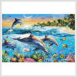cross stitch pattern Dolphin Bay