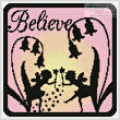 cross stitch pattern Fairy Silhouette Square 3