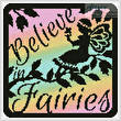 cross stitch pattern Fairy Silhouette Square 4