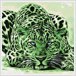 cross stitch pattern Green Leopard