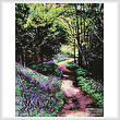 cross stitch pattern Lavender Lane