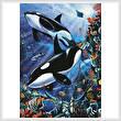 cross stitch pattern Orcas