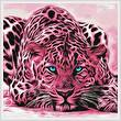 cross stitch pattern Pink Leopard